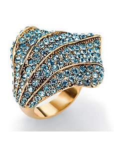 Aquamarine-Colored Crystal Ring by PalmBeach Jewelry