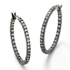 Cubic Zirconia Inside-Out Earrings
