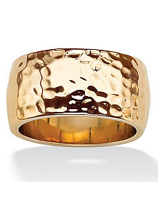Hammered-Style Band by PalmBeach Jewelry