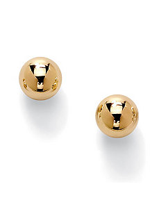 Ball Stud Pierced Earrings by PalmBeach Jewelry