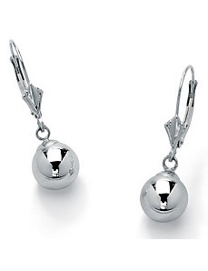 Ball Drop Pierced Earrings by PalmBeach Jewelry