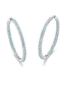 Birthstone Inside-Out Hoop Earrings by PalmBeach Jewelry