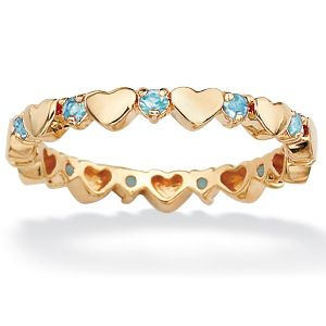 Birthstone Heart Eternity Band