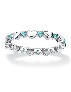 Birthstone Heart Eternity Band by PalmBeach Jewelry