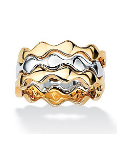 Stackable Zigzag Ring Set by PalmBeach Jewelry
