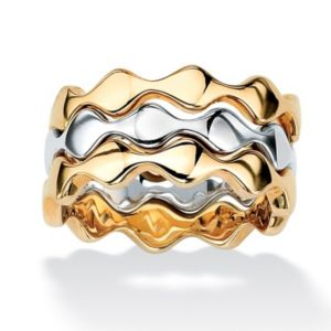 Stackable Zigzag Ring Set
