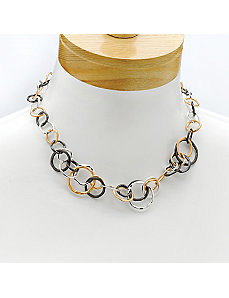 Multi-Circle Necklace by PalmBeach Jewelry