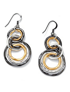 Multi-Circle Drop Pierced Earrings by PalmBeach Jewelry