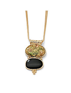 Lucite Station Pendant and Chain by PalmBeach Jewelry