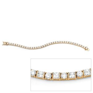 Round/Princess-Cut Tennis Bracelet