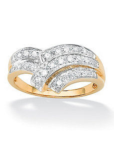 Diamond Chevron Bypass Ring by PalmBeach Jewelry