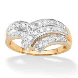 Diamond Chevron Bypass Ring