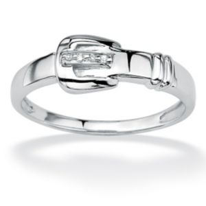 Diamond Accent Buckle Ring