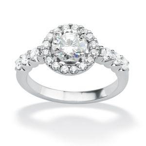 Round Cubic Zirconia Anniversary Ring
