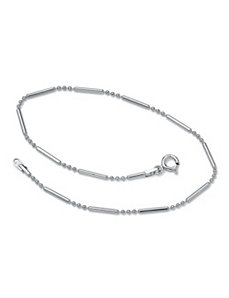 Bar and Bead Ankle Bracelet by PalmBeach Jewelry