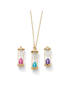 Genuine Birthstone Pendant by PalmBeach Jewelry