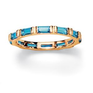 Bezel-Set Birthstone Eternity Band
