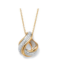 Swirled Eternity Pendant by PalmBeach Jewelry