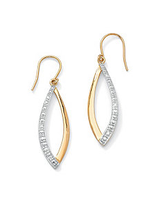 Diamond Accent Marquise Earrings by PalmBeach Jewelry
