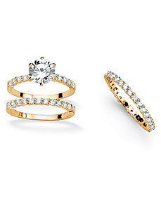Cubic Zirconia Ring Set by PalmBeach Jewelry