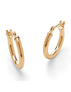 Tubular Hoop Pierced Earrings by PalmBeach Jewelry