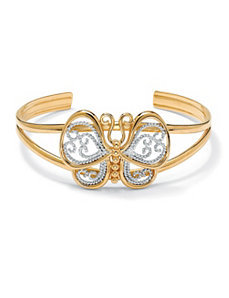Filigree Butterfly Cuff Bracelet by PalmBeach Jewelry