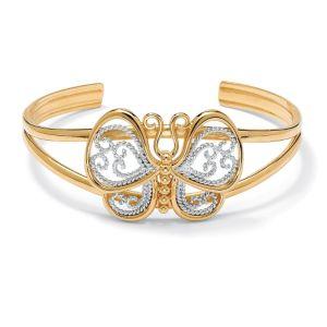 Filigree Butterfly Cuff Bracelet