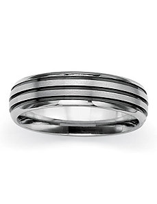Brushed Wedding Band by PalmBeach Jewelry
