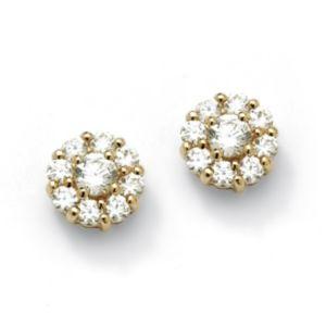 Round Multi-Cubic Zirconia Stud Earrings
