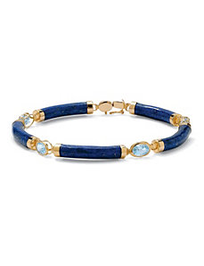 Lapis and Blue Topaz Bracelet by PalmBeach Jewelry