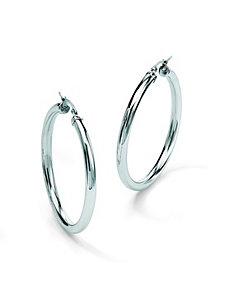 "Stainless Steel 2 3/4"" Hoops by PalmBeach Jewelry"