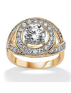 Round DiamonUltra™ Ring by PalmBeach Jewelry