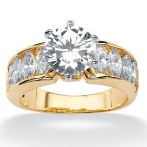 Round/Marquise Cubic Zirconia Ring