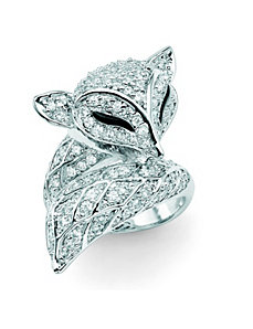 DiamonUltra™ Cubic Zirconia Fox Ring by PalmBeach Jewelry
