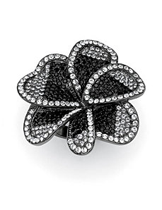 Multi-Crystal Flower Ring by PalmBeach Jewelry