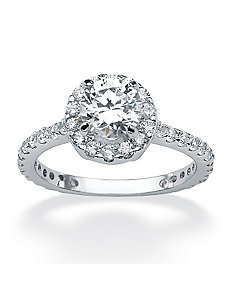 Round Cubic Zirconia Eternity Ring by PalmBeach Jewelry