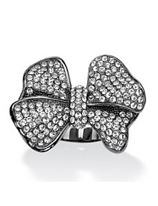 Multi-Crystal Bow Ring by PalmBeach Jewelry