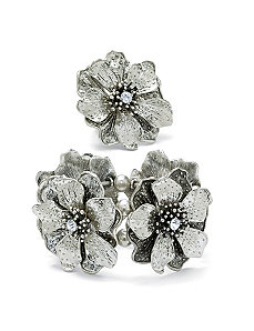 Multi-Petal Flower Jewelry Set by PalmBeach Jewelry