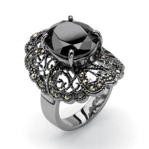 Black Cubic Zirconia Ring