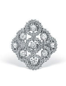 Cubic Zirconia Multi-Circle Ring by PalmBeach Jewelry