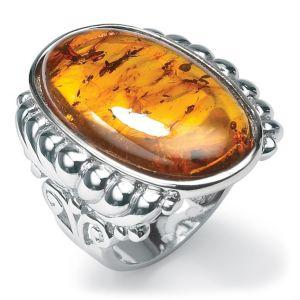Cognac Amber Ring