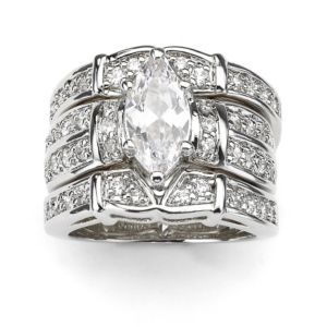 Marquise & Round Cubic Zirconia Ring Set