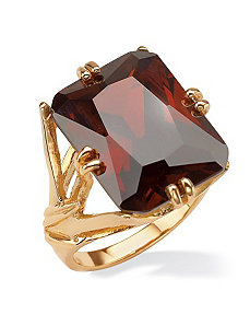 Emerald-Cut Red Cubic Zirconia Branch Ring by PalmBeach Jewelry
