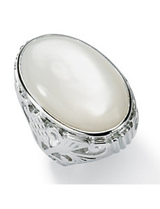 Simulated Mother-of-Pearl Ring by PalmBeach Jewelry