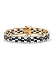 Oval-Cut Sapphire Tennis Bracelet by PalmBeach Jewelry
