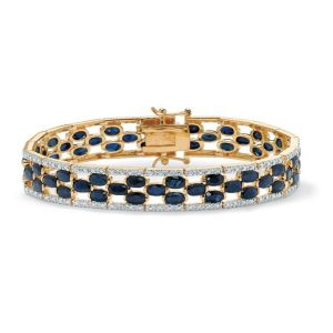 Oval-Cut Sapphire Tennis Bracelet