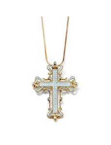 Open-Work Cross Pendant by PalmBeach Jewelry