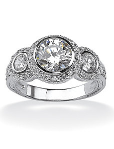 Cubic Zirconia Anniversary Ring by PalmBeach Jewelry