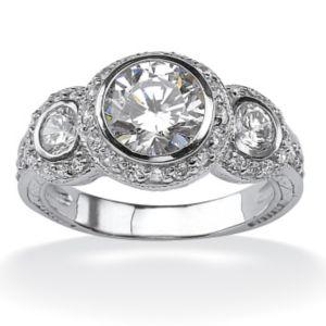 Cubic Zirconia Anniversary Ring