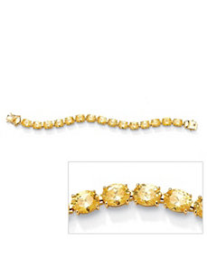 Canary Yellow Cubic Zirconia Tennis Bracelet by PalmBeach Jewelry